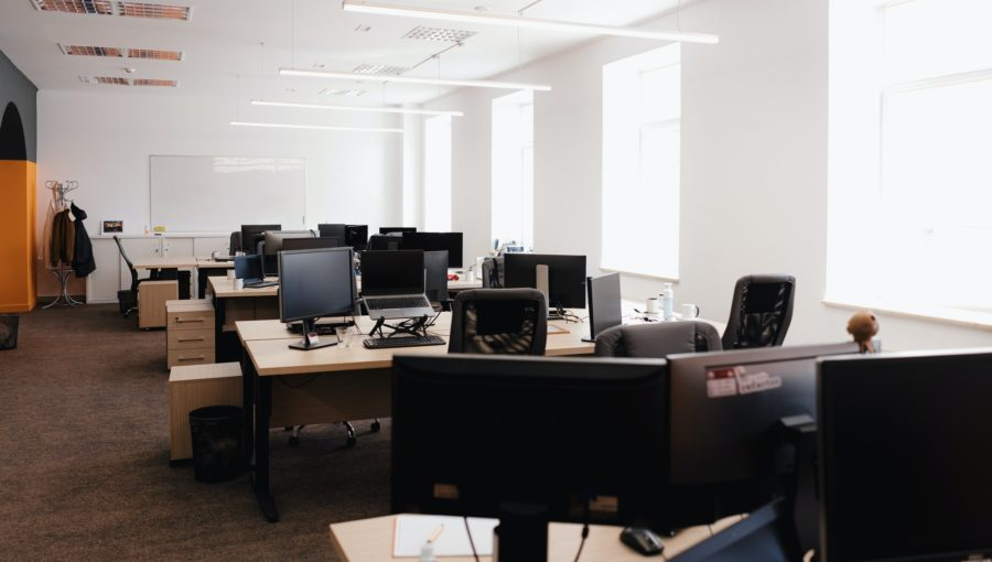 Modern Office Space Interior.