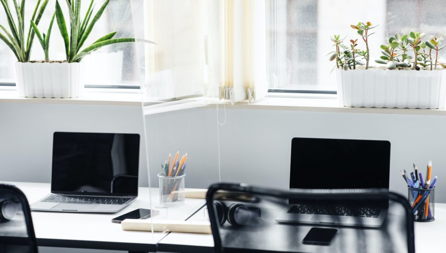 New normal and social distance in office interior